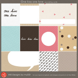 One kiss one love journaling card